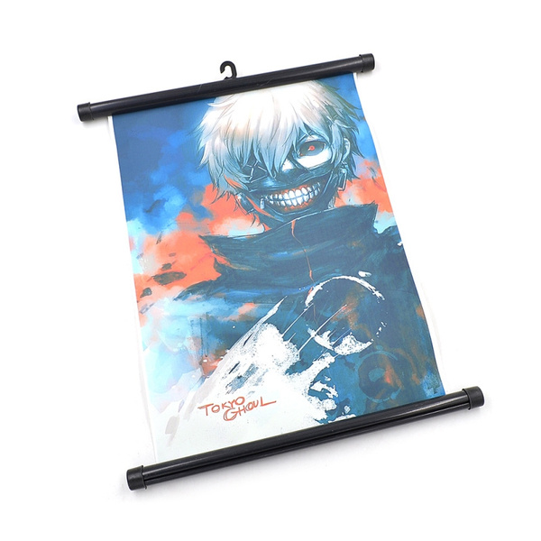 Picture of Japanese Anime Tokyo Ghouls Scroll Painting Color Multicolor