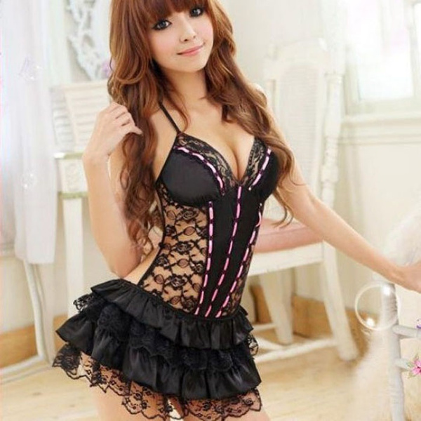 Lace, Halter, Dress, passionlingerie