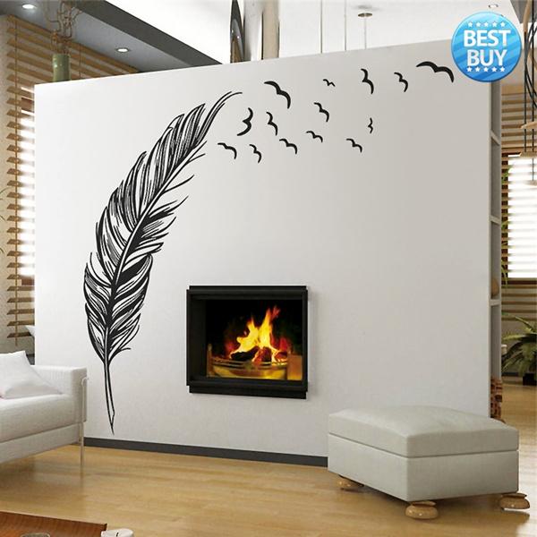 Decor, Wall Art, Home Decor, featherswallsticker