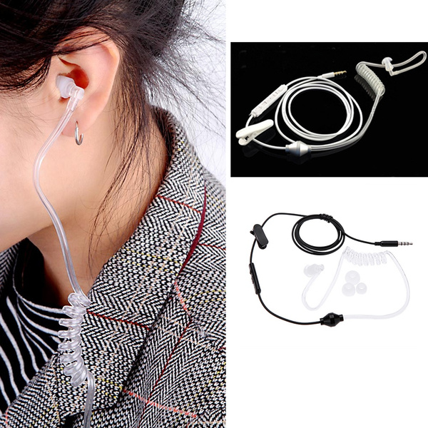 Picture of 3.5mm Mono Stereo Air Tube Anti-radiation Radiation Proof Earphone