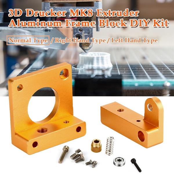 Picture of 3d Drucker Mk8 Extruder Aluminum Frame Block Diy Kit Reprap I3 All Metal Diy
