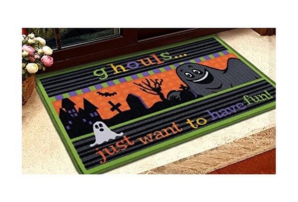 wish memorecool halloween cartoon skeleton ghost horror doormat kitchen non slip floor mats indoor mat