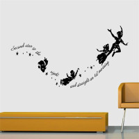 Best Seller Peter Pan Carved Wall Stickers Child's bedroom Decorative Stickers