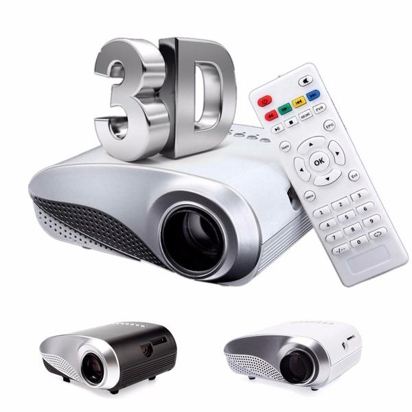 2018 New Mini Projector Home Multimedia Cinema LED Projectors HD 1080P  Support AV TV VGA USB HDMI SD Phone Pocket RD-802