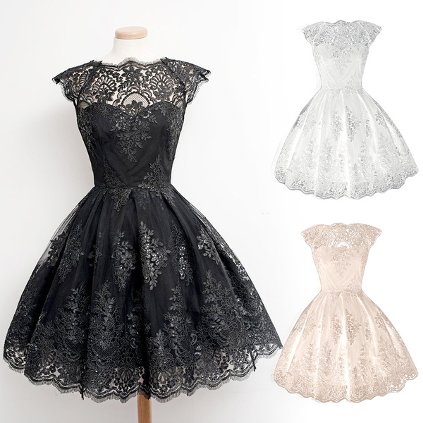 Wish   Retro Gothic Girl Waisted Lace Party Dress Cocktail Lolita ...