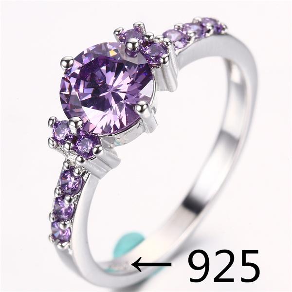 goldplated, purplediamondring, DIAMOND, Jewelry
