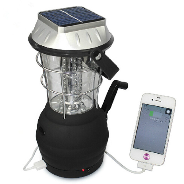 Picture of 36 Led Solar Powered Rechargeable Camping Lantern Led Handing Tent Light Lamp For Outdoor Activities