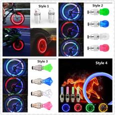 1 Pair LED Cycling Bike Bicycle Neon Car Wheel Tire Valve Caps Wheel Lights