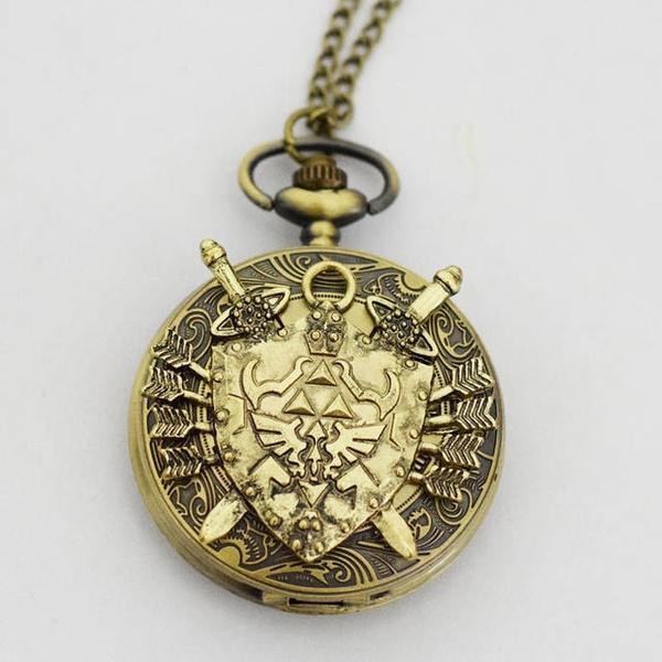 Wish legend of zelda hylian shield necklace watch charm wish legend of zelda hylian shield necklace watch charm pendant watch link zelda watch aloadofball Choice Image