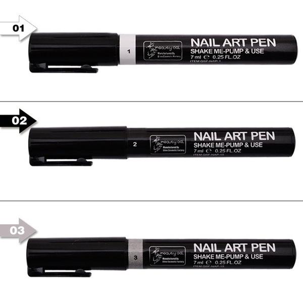 Wish | 16 Colors Nail Art Pen for 3D Nail Art DIY Decoration Nail ...