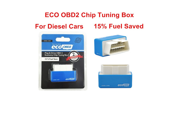 ECOOBD2 Chip Tuning Box For Diese Cars Not For Benzine Gasoline Cars ECO  OBD2 Blue Plug Drive Car Saving Fuel Tool Lower Emission ECO Economy Scanner