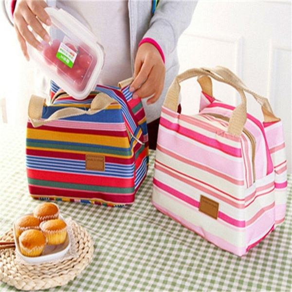 Picture of Thermal Insulated Lunch Box Tote Cooler Zipper Bag Bento Lunch Pouch