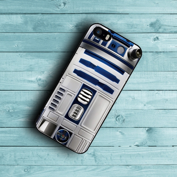 New Fashion High Quality DIY Star Wars R2D2 Robot phone Case Cover for  iphone 4 4s 5 5s 5c 6 6 Plus Case cover mobile phone bag By Kuni