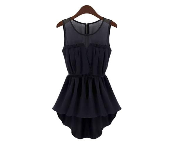 Wish   Damen Sommerkleider Swallowtailed Kleid ?rmellos Chiffon ...