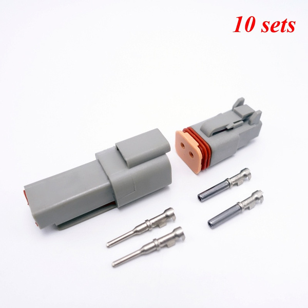 10 Kits 2 Pin Way Sealed Waterproof Electrical Wire Connector Plug