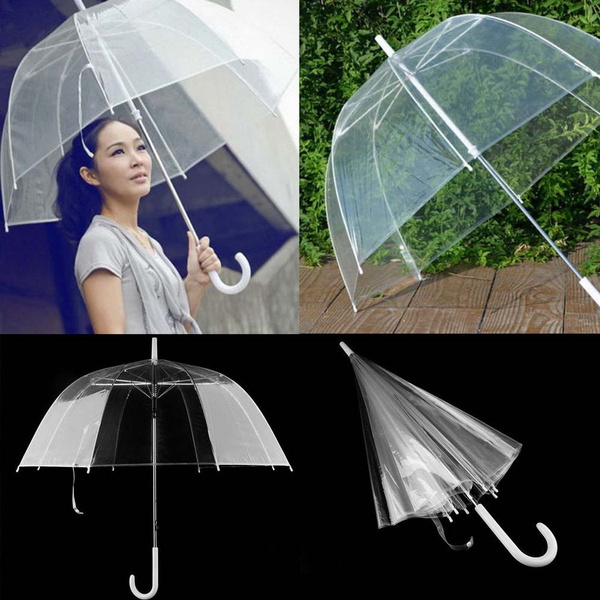 0d636fbc5 Transparent Clear Rain Umbrella Parasol PVC Dome for Wedding Party ...