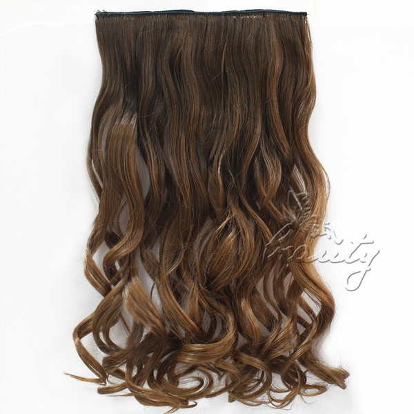 Wish Women 24 17 Piece Straight Curly Ombre Clip In Dip Dye Hair