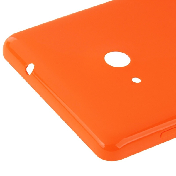 Wish | Smooth Surface Plastic Back Housing Cover Replacement for Microsoft Lumia 535(Orange)