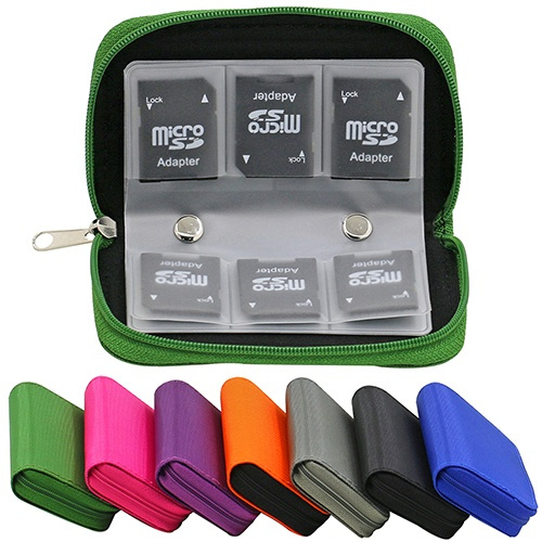 Picture of Multicolor Sd Sdhc Mmc Cf Micro Sd Memory Card Storage Carrying Pouch Card Holder Case Wallet