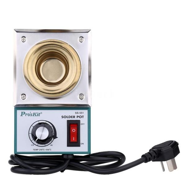 Wish | New Home Hand Tools Pro'sKit 220-550°Titanium Plating Stainless Steel Solder Pot Temperature Adjustable Molten Tin Crucible Furnace Welding Repair ...