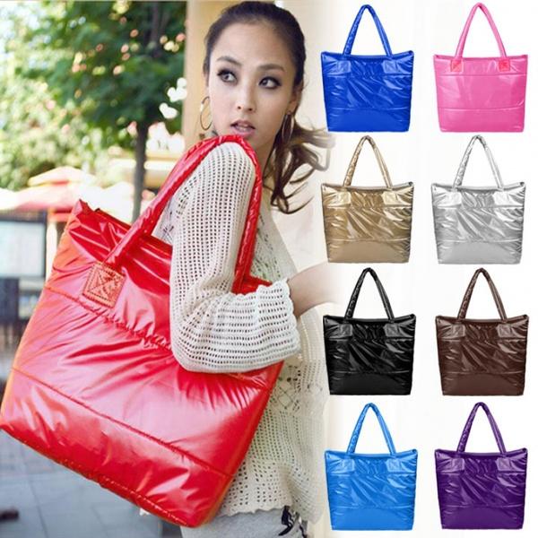 Picture of Lady Beautiful Shoulder Bag Women Space Bale Cotton Totes Handbag Purse