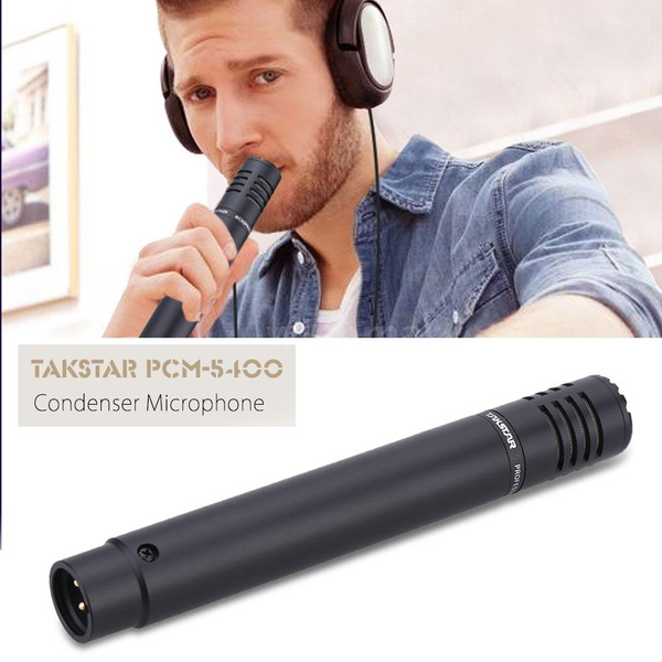 Portable Mic Instrument Condenser Microphone for Cymbals Piano Strings