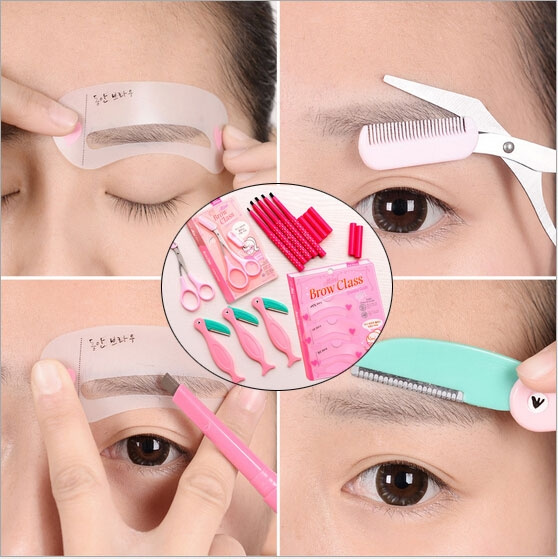 Women Lady Waterproof Longlasting Eyebrow Pencil Eye Brow Liner Pen Powder Shapper Makeup Beauty Shaver Piece Thrush Card Tool