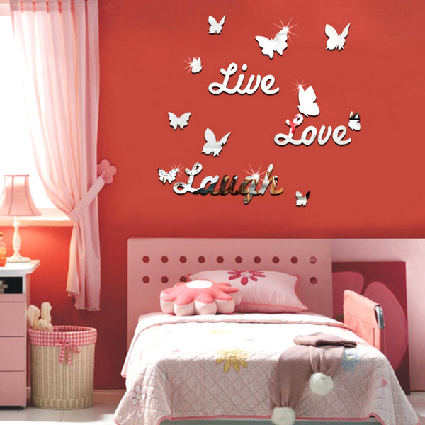 Picture of Live Laugh Love Quote Removable Vinyl Wall Decal Stickers Mirror Decor Art Diy