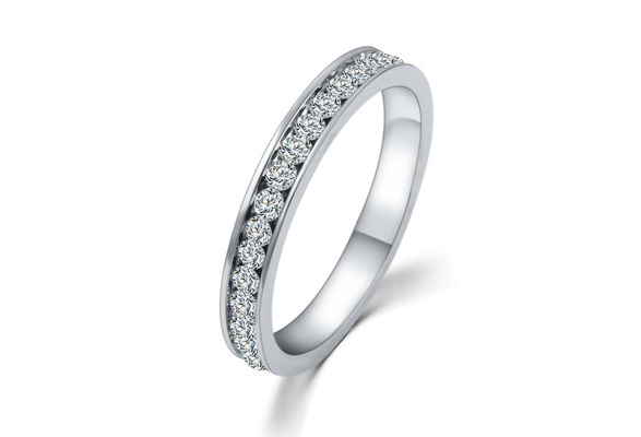 2015 Hot Sale Wedding Bridal Band CZ Diamond Ring Silver 925 Gifts for Women Accessories Fashion Brand White Ulove For Couples Wedding Ring