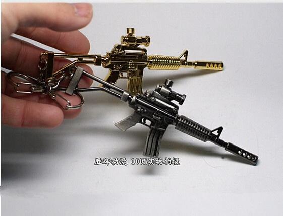 wish creative rotation machine gun keychain mini gun keychain