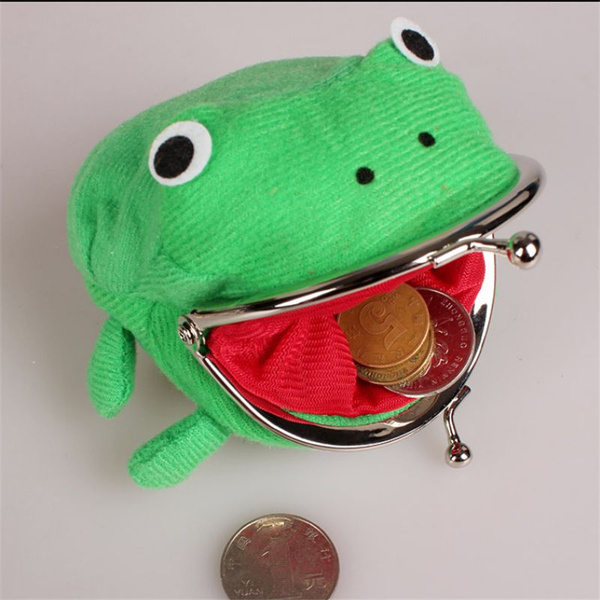 Picture of Cute Set Cute Naruto Frog Wallet Coin Purse Novelty Gift Plush Wallet