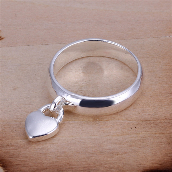 Picture of New Design Smooth Rings 925 Sterling Silver Heart Locket Ring