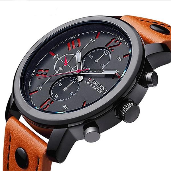 Picture of Fashion Analog Display Orologio Uomo Quartz-watch Curren Male Watch Leather Watch Men Curren Watches