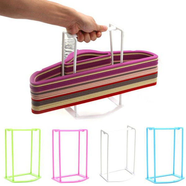 Picture of Plastic Hangers Creative Home Finishing Frame Hanger Companion Storage Rack