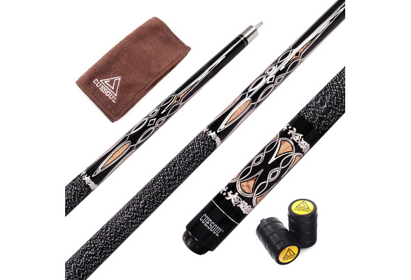 CUESOUL 57 2-Piece Hardwood Canadian Pool Cue Billiard Stick with Irish Wrap 21oz