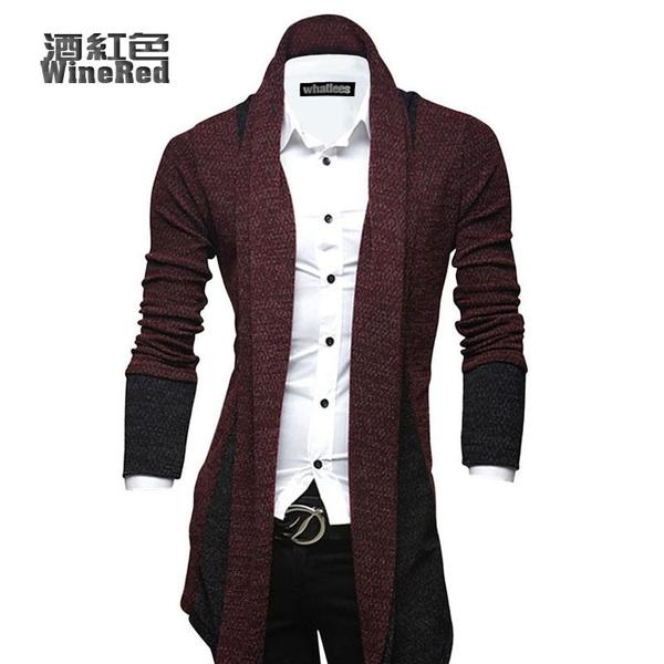 Wish | New Men's Casual Fashion Casual Cardigan Sweater Slim ...