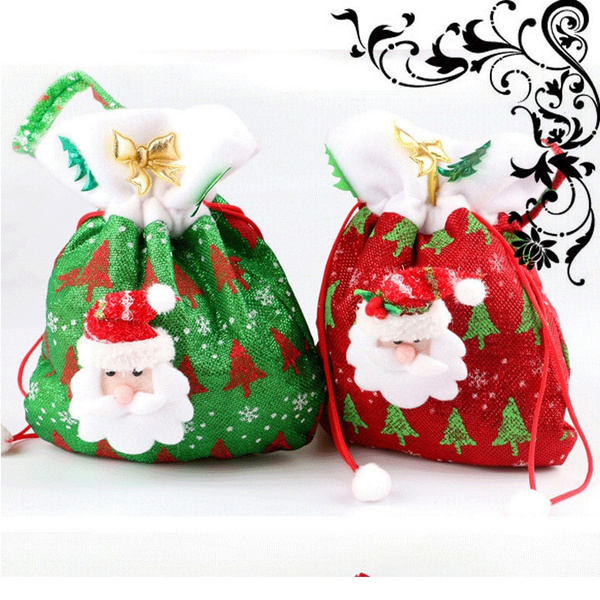 wish classic gifts 24cm x20cm christmas gift bags mangrove elderly cloth bag xmas candy bags christmas gifts case fashion accessories