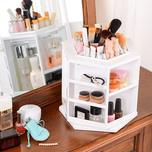 Wish 360degree Cosmetic Organizer Display Makeup Box Brush