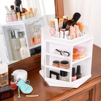 wish 360 degree cosmetic organizer display makeup box. Black Bedroom Furniture Sets. Home Design Ideas