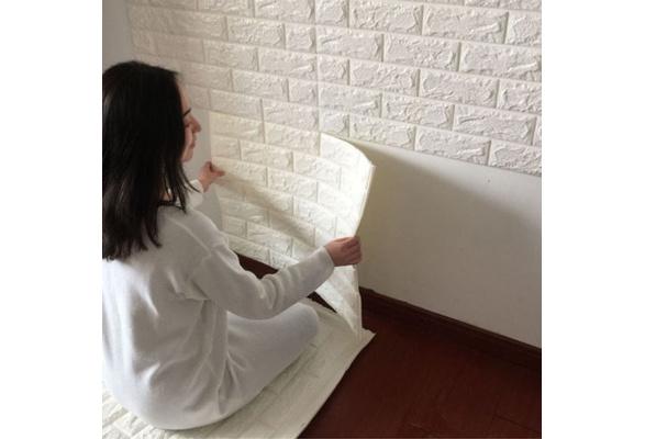 New PE Foam 3D Wallpaper DIY Wall Stickers Wall Decor Embossed Brick Stone Fliesen Wandaufkleber PE Foam Fond d' cran 3D Peintures murales D coration murale en relief Brique en pierre 60 CMX 30 CMX 0.8CM,60CMX60CM X 0.8CM