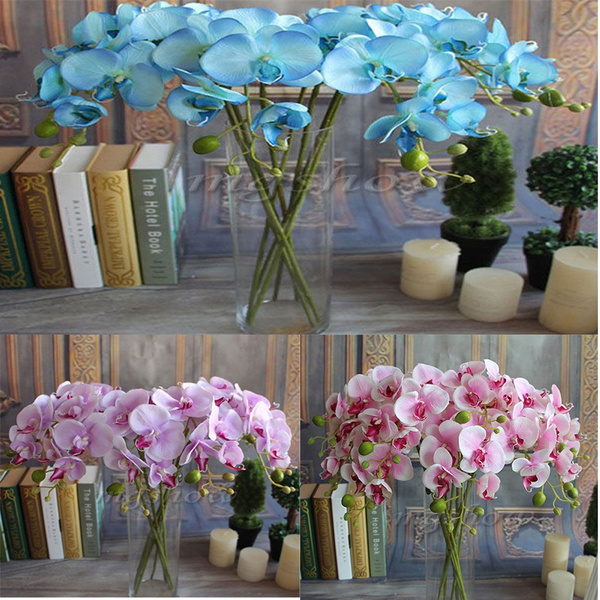 Picture of Artificial Butterfly Orchid Silk Flower Wedding Party Phalaenopsis Bouquet
