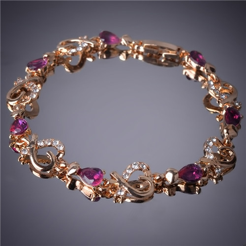 goldplated, czbracelet, Jewelry, gold