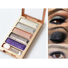New 5 Color Glitter Eyeshadow Makeup Eye Shadow Palette