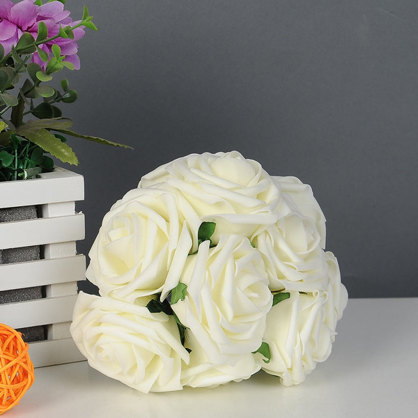 Wish | Quality Artificial Rose Flower Wedding Bridal Bouquet Prom ...