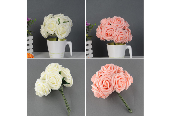 Quality Artificial Rose Flower Wedding Bridal Bouquet Prom Rome Home Decor