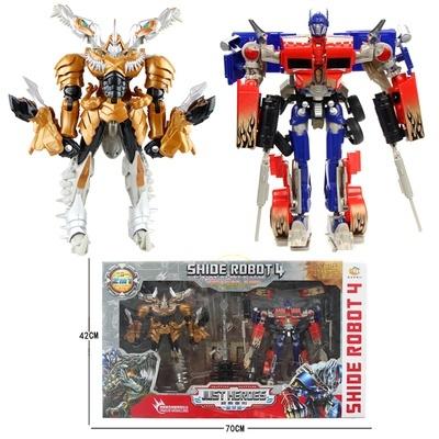Toy Car Dinosaur 4 Children Transformers Robot Prime Boy Model Optimus Alloy Bumblebee N8yvnOwm0