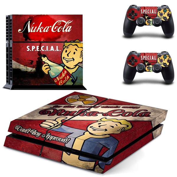 Radiation theme Skin Stickers For Playstation 4 PS4 Console Decal  Accessories+2 Pcs Stickers For PS4 Controller