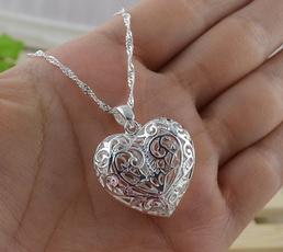 Sterling, Heart, Flowers, 925 sterling silver