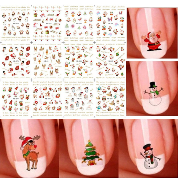 cute, nail decals, art, Christmas