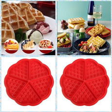 1X Safety 5-Cavity Waffles Cake Chocolate Pan Silicone Mold